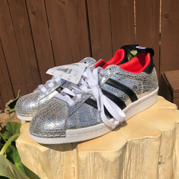 super quality 100% high quality united kingdom Metallic Limited Edition 45:50 Adidas Superstar NWT